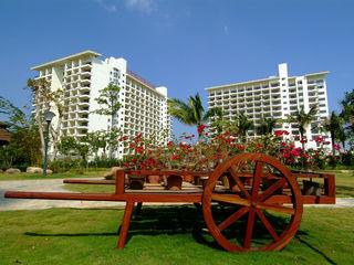 玉海国际酒店花园一角